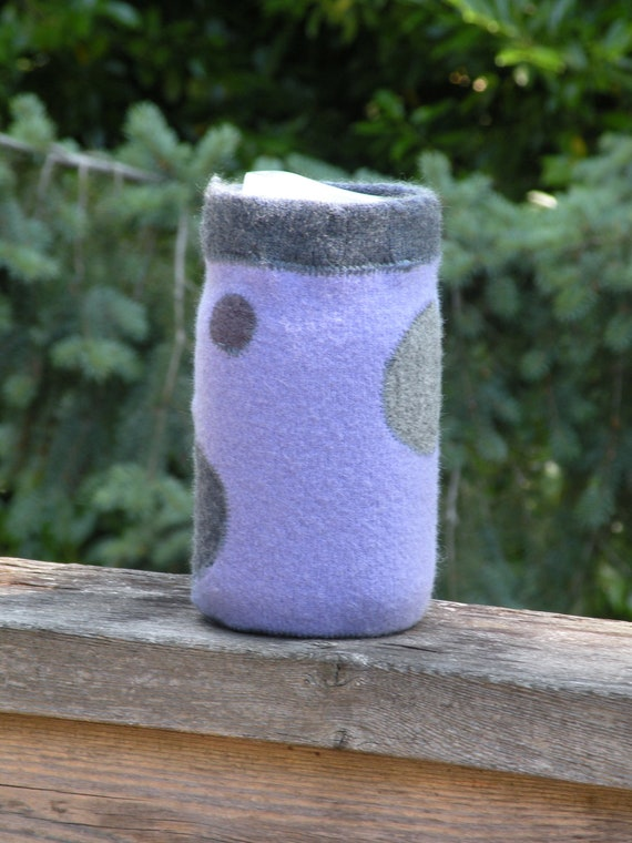 Jar Cozy - quart size - dapper dots - purple