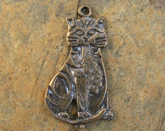 Bronze Cat Pendant