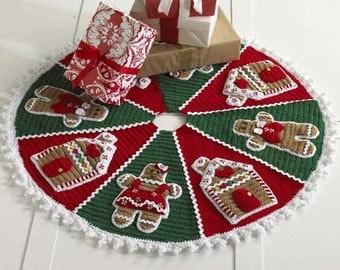 Gingerbread Tree Skirt Crochet Pattern PDF