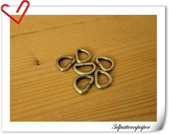 1/2 inch anti brass D-ring  purse bag makeing supplies 20pcs AB11