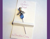 Blue Angel Pin - A Quilter's Angel - Decorative Sewing Pin - Scrapbooking Pin - Cardmaking Pin - Gift Exchange