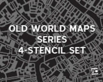 Stencil - Old World Maps Series