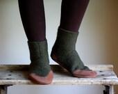 Mens Wool Slipper Socks, Eco Friendly, men size 11.5, Tree Hugger