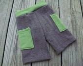 Merino wool cloth diaper cover board shorts size MEDIUM w/ added interlock doubler