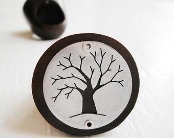 Tree Cutout Round Wood Ring  -- Modern Woods