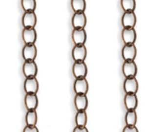 Vintaj 3.5mm Extra Fine Oval Chain 2ft CH004