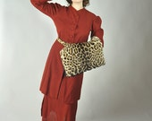 Vintage 1930s Suit - Edwardian Inspired Rust Color Wool Crepe Two Piece Suit