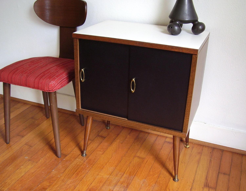 Vintage Modern Mid Century Record Cabinet