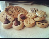 Theatrical food props Doll food faux cookies 12pc Made to order