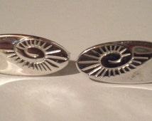 Vintage Anson Cuff Links - Silver Toned - Swirl Design Cuff Links - Anson Cuff Links - Designer Cuff Links - Men's Cuff Links