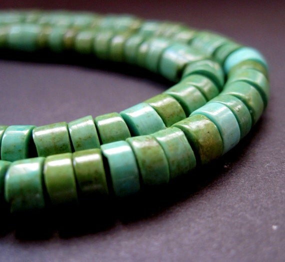 Turquoise Heishi - 6mm - 8 Inches