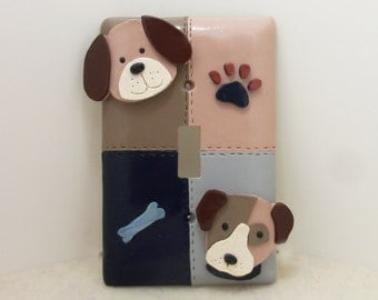 Dog  Puppy Light Switch Cover or Outlet Cover - Puppy Dog Nursery Decor - Rocker Light Switch Cover, Toggle Light Switch Plate