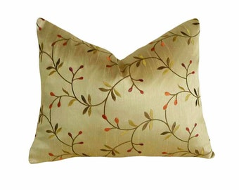 floral throw pillow grey golden yellow turquoise leaf