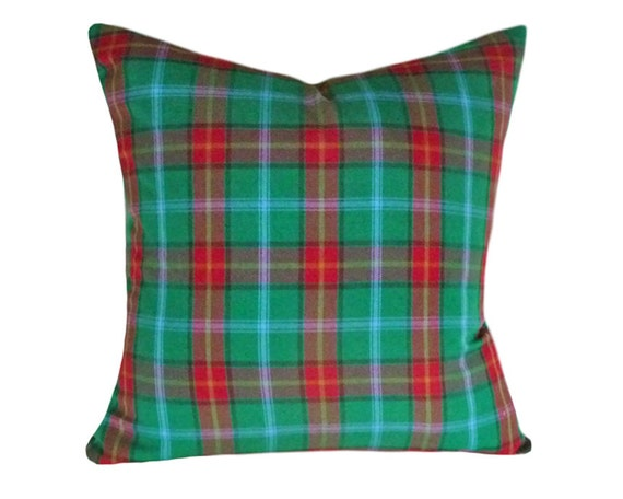 Green Plaid Throw Pillow : Green Plaid Pillow Tartan Plaid Pillows Plaid by PillowThrowDecor
