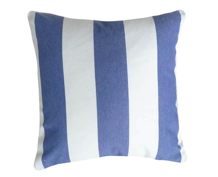 Blue and White Stripe Pillows Decorative Throw by PillowThrowDecor