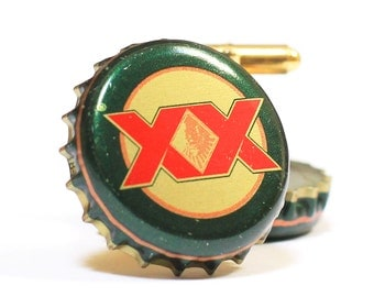 Dos Equis Bottle Cap Cuff Links