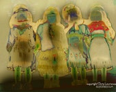 Original Art Print - Spirit Maidens - Matted and Signed by Artist Chris Lawrence - 11 x 14