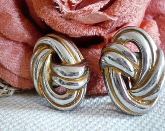 French Vintage Knot Clip on Earrings