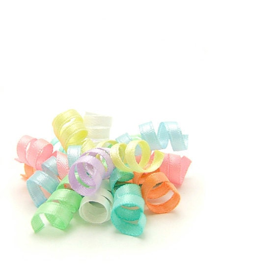 Pastel Rainbow Mini Korker Bow, Satin Korker Barrette, Baby Hair Clip, Toddler Girl Korker Clippies