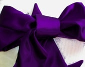 Purple Bridal Sash, Violet Purple Satin Wedding Gown Sash, Violet Purple Sash, Radiant Orchid Sash, Purple Obi Belt, Purple Obi Sash