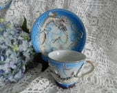 Vintage Moriage Demitasse Dragon Set  no28