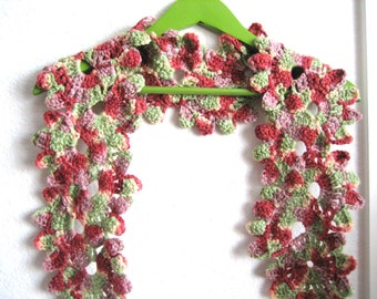 Crochet scarf, accessory,woman, hand made, super good looking , new