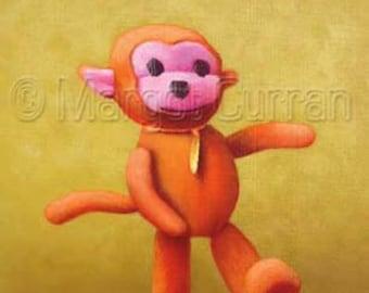 Orange Monkey postcard 6-pack