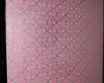 Pink Mini Brocade..Magnet Dry Erase Steel Memo Board / office decor / organization / wall decor / housewarming gift / desk / message board