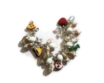 New york altered art charm bracelet SALE