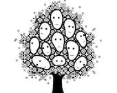 PDF pattern / blackwork TREE