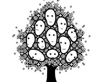 PDF pattern / blackwork TREE