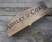 Custom Wine Box Custom Wedding Wine Box Engraved Personalized First Fight Box Memory Box for Wedding Day Anniversary Special Occasion Rustic