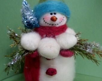 Having a Ball Felted Wool Snowman
