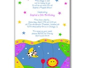 15 Puppet Show Invitations Stars and Swirls for Kids Birthday Party