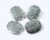4 Pewter Large Oval Focal Beads 26mm - Lead-Free - (p108)