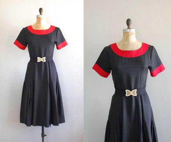 80s does 50s dress / vintage 70s dress / Time After Time