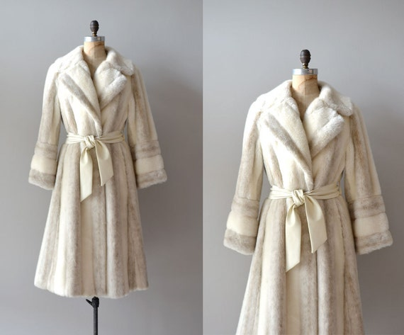 r e s e r v e d...1970s faux fur coat / belted coat / Where the Snows Are