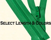 Three Vislon Jacket Zipper YKK 5 Molded Plastic Medium Weight - Separating - Select Length and Color
