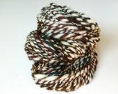 SALE Winter Sunset 109 yards Super Bulky BFL Wool Cream Handspun Yarn 2 ply Jewels