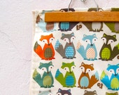 FOX Organic Baby Blanket -  Modern Woodland Forest Animals - Eco Friendly Kids Bedding - Ready to Ship - Last 1