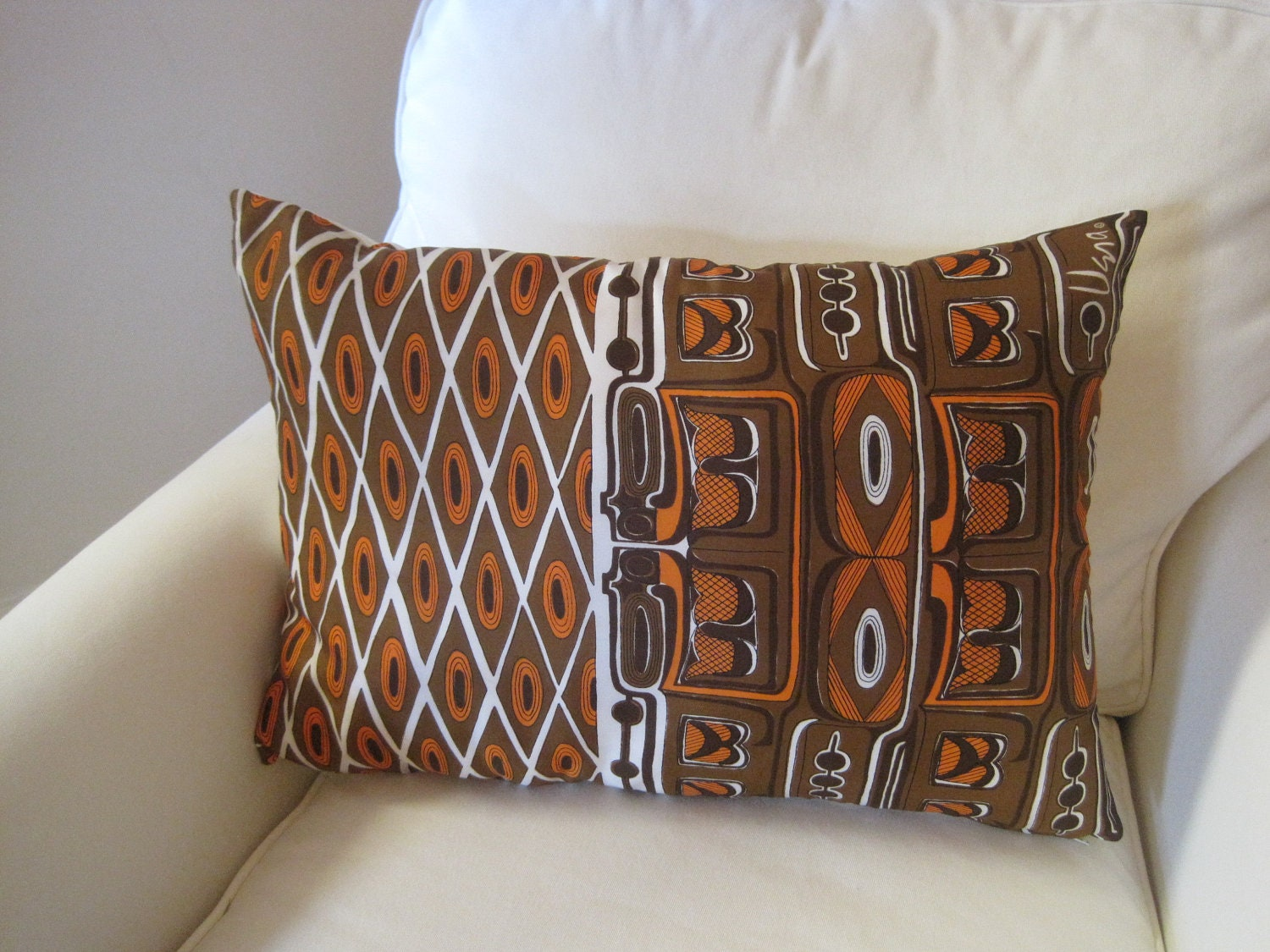 Tribal Vera Pillow Sham Luxe Throw Pillow Cover in Brown