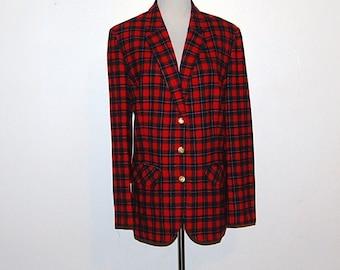 Vintage Pendleton  Blazer /  Jacket Red  Wool Traditional