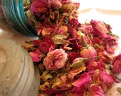 Organic Pink Rose Buds and Petals dried herb 1 ounce free shipping when ordered with another item