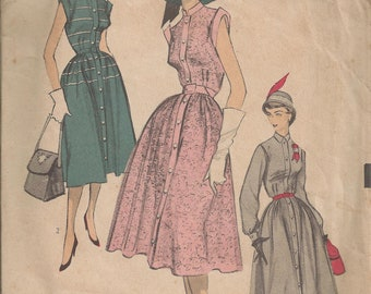 Vintage Sewing Pattern 1950s Advance 5849 Misses Size 14 Bust 32