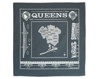 Queens bandanna: gray
