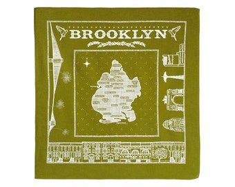 Brooklyn bandanna - green