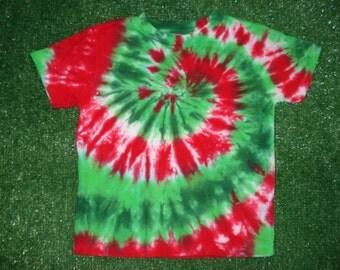 5-6T Christmas Tie Dye Tshirt
