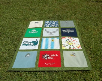 Tshirt quilt with your loved ones clothing