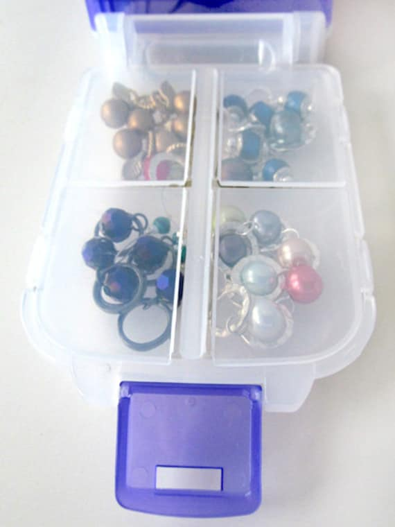 Snap 'n Go Notions Case - On-The-Go Storage Accessory for Knitters and Crocheters - Indigo