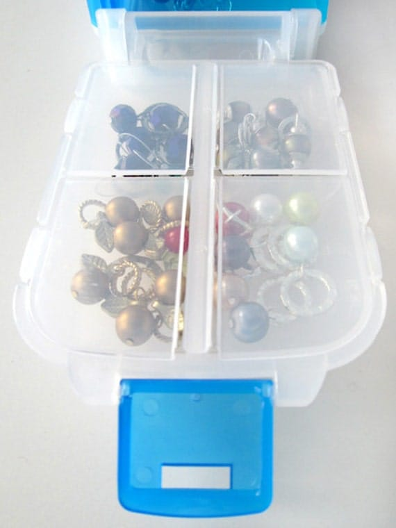 Snap 'n Go Notions Case - Jumbo - On-The-Go Storage Accessory for Knitters and Crocheters - Aqua Blue
